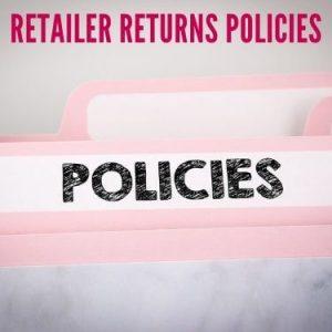 Retailer Returns Policies