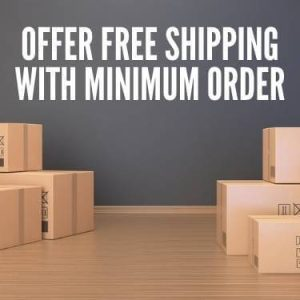 Offer Free Shipping With Minimum Order